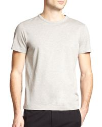 Theory | Gray Andrion Mercerized Cotton Pique Tee for Men | Lyst