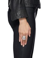Alexander McQueen | Metallic Crystal Forest Skull Ring | Lyst