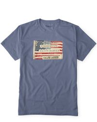 Denim & Supply Ralph Lauren Blue Flag Patch Cotton T-shirt for men