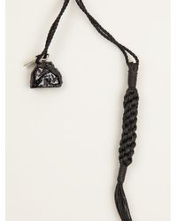 Ann Demeulemeester - Black Fringed Rope Necklace - Lyst