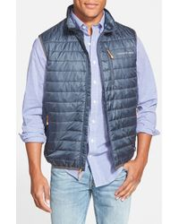Vineyard Vines | Blue 'mountain Weekend' Quilted Vest for Men | Lyst