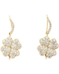 Aurelie Bidermann - Metallic Four-leaf Clover Drop Earrings - Lyst