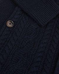 Ted Baker Blue Hofman Cable Knit Funnel Neck Jumper for men