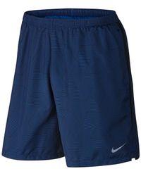 "Nike | Blue Optical Run Challenger 7"" Dri-fit Running Shorts for Men | Lyst"