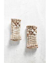 Urban Outfitters Natural Spacedyed Chunky Cable Fingerless Glove