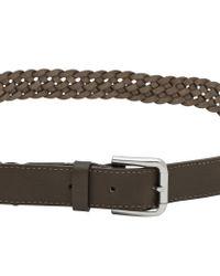 Reiss Green Gaston Leather Belt for men