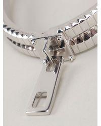 Eddie Borgo Metallic Zip Bangle Bracelet