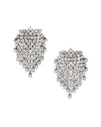 Kenneth Jay Lane Metallic Cluster Clip-On Earrings/Gunmetal