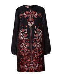 Giamba | Black Liberty Jacquard Long Sleeve Dress | Lyst