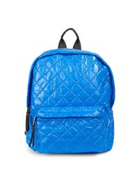 Steve Madden Blue Quilted Backpack