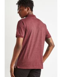 Forever 21 | Purple Striped Colorblock Polo for Men | Lyst