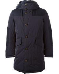 Moncler - Blue 'weber' Reversible Coat for Men - Lyst