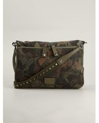 Valentino Multicolor 'Camubutterfly' Messenger Bag for men