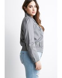 Forever 21 - Gray Plus Size Classic Utility Jacket - Lyst