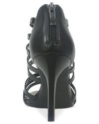 Tahari Black Canton Dress Sandals