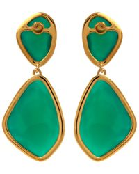 Monica Vinader - Gold-plated Green Onyx Siren Cocktail Earrings - Lyst