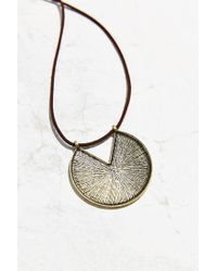 Urban Outfitters - Metallic Heavy Layer Pendant Necklace - Lyst