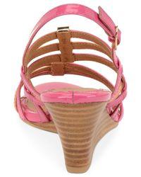 Söfft   Pink Posh Wedge Sandals   Lyst