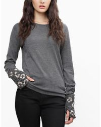 Wool And The Gang   Gray Def Leopard Mittens   Lyst