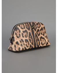 Dolce & Gabbana Multicolor Leopard Print Make Up Bag