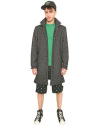 Opening Ceremony Metallic Wool Blend Heathered Maxi Coat for men