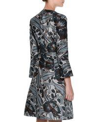 Marni - Black Bracelet-sleeve Floral-print Dress - Lyst
