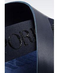 Emporio Armani   Blue Driving Shoe In Calfskin for Men   Lyst