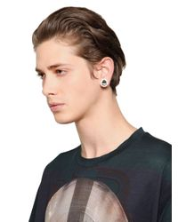 Givenchy | White Svarowsi Crystals Magnetic Earrings for Men | Lyst