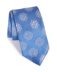 John W. Nordstrom | Blue 'malbo' Medallion Silk Tie for Men | Lyst