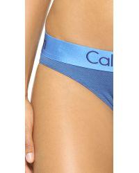 Calvin Klein | Blue Dual Tone Bikini Briefs - Steel Grey/ashford Grey | Lyst