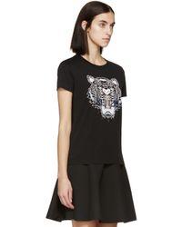 KENZO Ssense Exclusive Black Tiger Logo T-shirt