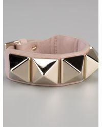 Valentino | Pink Studded Bracelet | Lyst