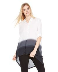 DKNY - White Pure Dip Dyed Trapeze Shirt - Lyst