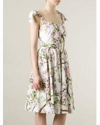 Dolce & Gabbana   Flared Floral Print Dress   Lyst