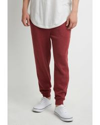 Forever 21 | Purple Drawstring Heathered Sweatpants for Men | Lyst