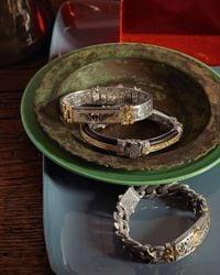 Konstantino - Metallic S/s Bronze Leather Brac - Lyst