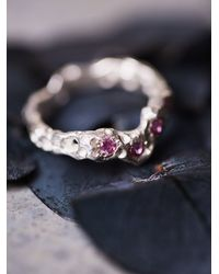 Free People | Pink Alexandra Dodds Womens Sunken Stones Ring | Lyst