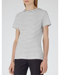 Reiss   Black Striped Toulouse Jersey T-shirt   Lyst