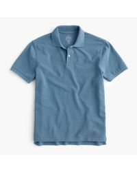 J.Crew | Blue Classic Piqué Polo Shirt for Men | Lyst