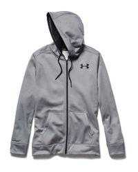 Under Armour | Gray Fleece Zip-front Hoodie for Men | Lyst