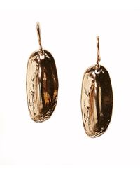 Rachael Ruddick | Metallic Cold Cast Crocodile Mini Drop Earrings | Lyst