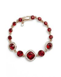 Givenchy | Red Jeweled Line Bracelet | Lyst