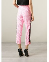 Christopher Kane - Pink Lace Trim Trousers - Lyst