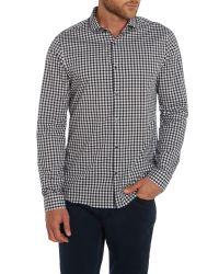 Michael Kors - Black Zachary Gingham Shirt for Men - Lyst