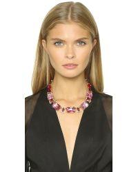 Oscar de la Renta - Pink Large Octagon Stone Necklace - Amaranth - Lyst