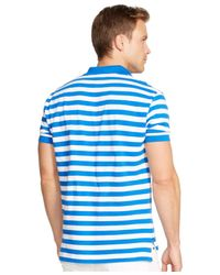 Polo Ralph Lauren | Blue Classic-fit Striped Mesh Polo for Men | Lyst
