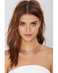 Nasty Gal | Metallic Row Away Collar Necklace | Lyst