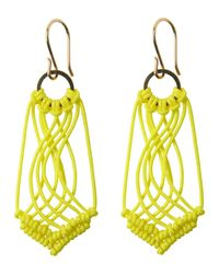 Toast | Yellow Helena Rohner Macrame Earrings | Lyst