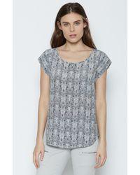a803e2c6f6691 Lyst - Joie Rancher Silk Top in Gray