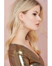 Nasty Gal - Metallic Hooped Up Earrings - Lyst